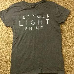 """Let your light shine"" t-shirt"